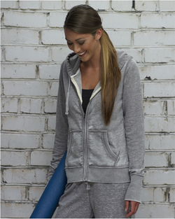 J-America Ladies 7.0 Ounce Zen Full Zip Hoody