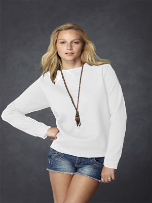 Anvil 7.2 Ounce Women's Crewneck Fleece