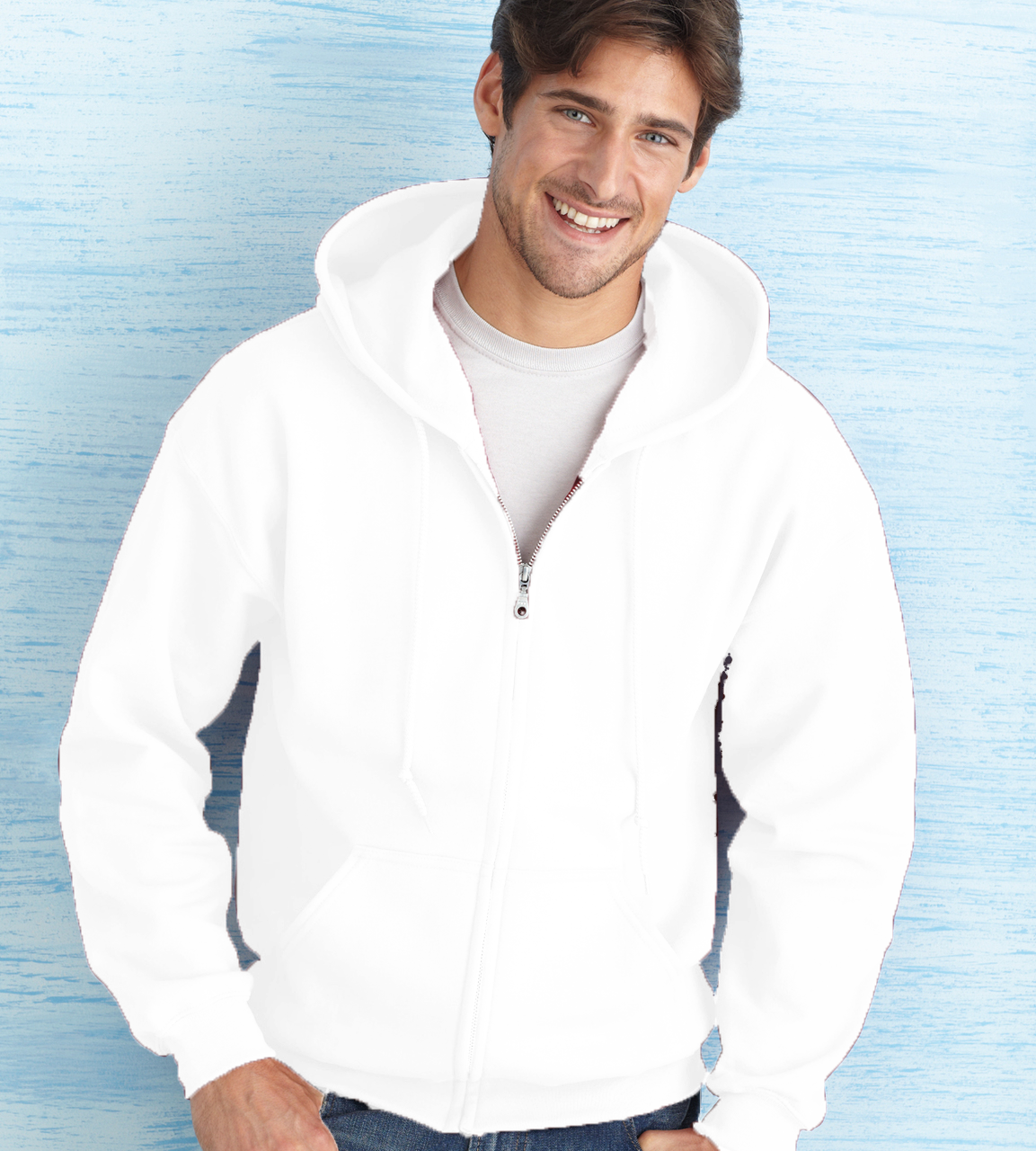 Gildan Heavy Blend 8.0 Ounce Adult Full Zip Hooded Sweatshirt